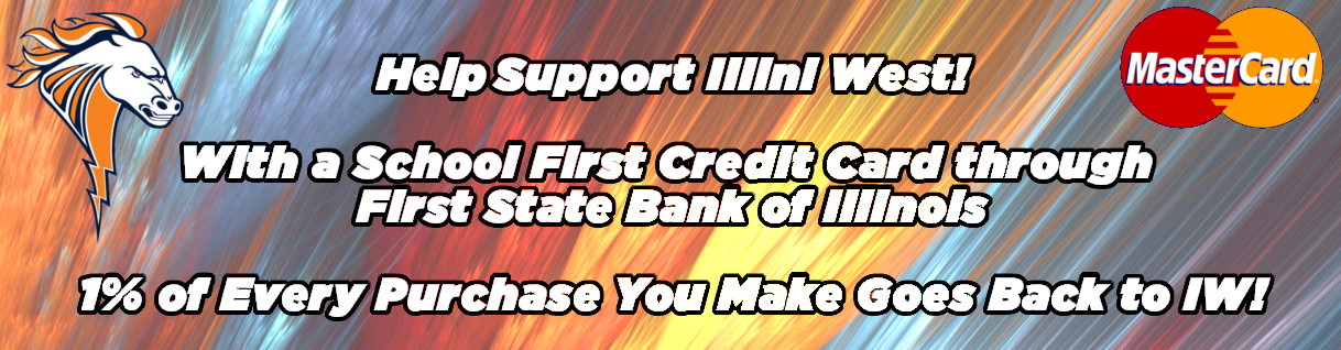 Support IW!  School First Credit Card from First State Bank