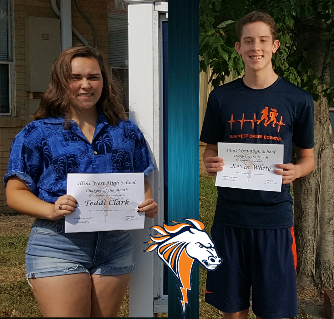 Teddi Clark and Kevin White September Students of the Month